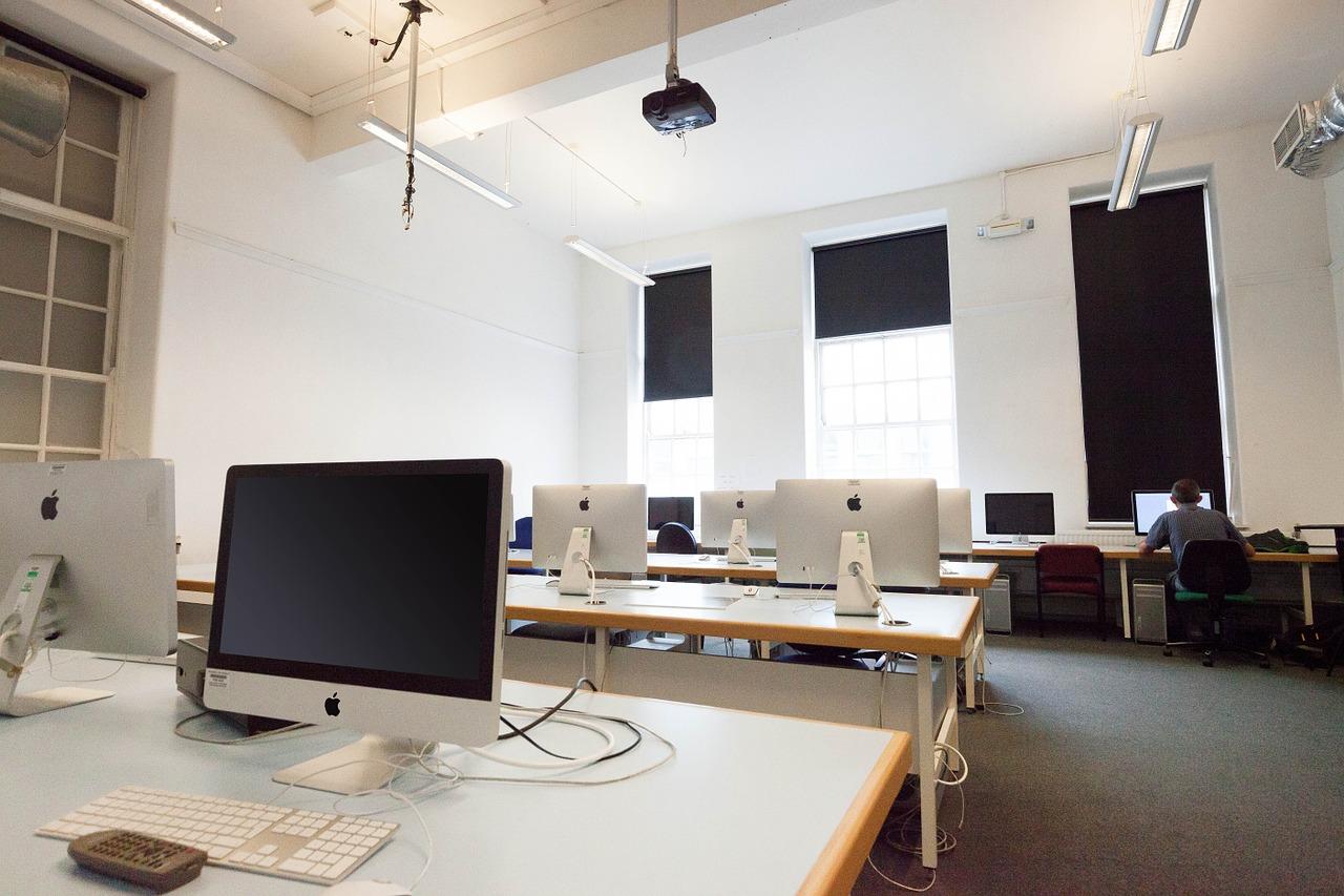 computer workstations, computer, screens